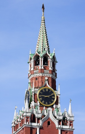 chimes of the Spassky Tower of Moscow Kremlin photo
