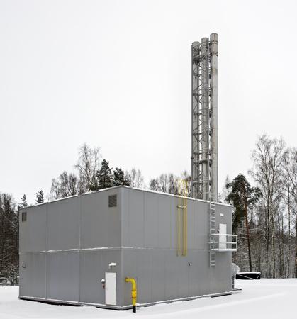boiler house: modern built a gas boiler house