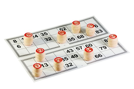 play bingo isolated on a white background photo