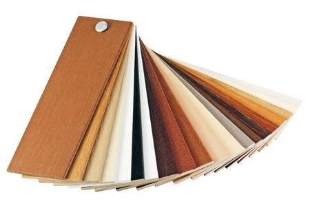 revestimientos: muestras de revestimientos de madera se a�sla en un fondo blanco