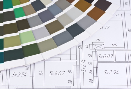 color palette is based on the layout of the premises Stock Photo - 12457034