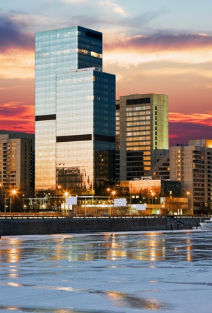 World Trade Center on the Moscow river, Russia Stock Photo - 12457291
