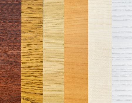 revestimientos: fondo de color de las muestras de los revestimientos de madera Foto de archivo