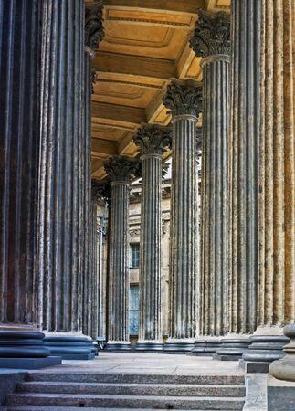 Corinthian Columns Row of Kazan Cathedral in St Petersburg  photo