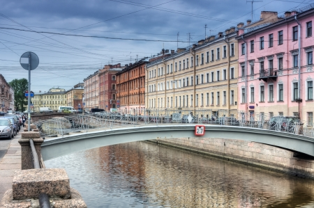 Channel of Griboedov in Saint-Petersburg, Russia  photo