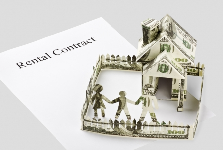 signed a contract renting the family carved out of the money photo