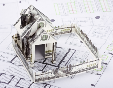House of the money for the architectural plan photo