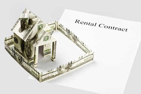 rental contract and the money cut from the house photo