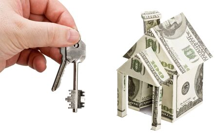 hand with the keys to the house of money Stock Photo - 14758360