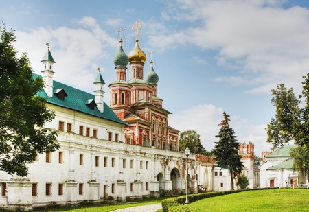 Gate Church and the wall of the Novodevichy Convent. Moscow. Russia.  photo