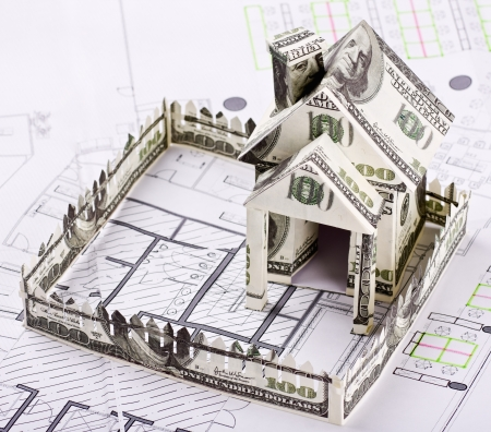House of the money for the architectural drawing Stock Photo - 15373259