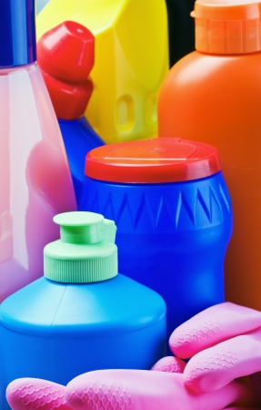 cleaning products: different accessories and products for cleaning