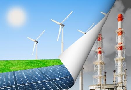 alternative Energie und Umwelt, Energie Produktions-Update Standard-Bild
