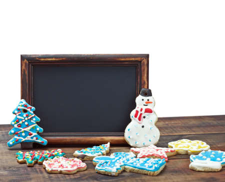 blackboard with space for text on the background of a Christmas background Stock Photo - 16451460