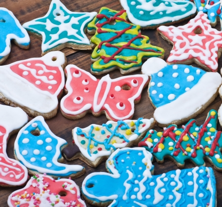 sugarcoat: Christmas gingerbread cookies on the table