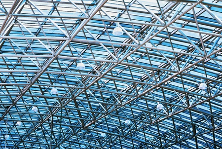 fragment background futuristic roof of modern building photo