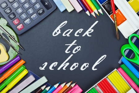 tools for education to the school board with text back to school photo