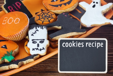 cookies for Halloween and the inscription cookie recipe photo