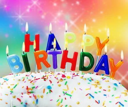 candles burning congratulation happy birthday fun on the cake