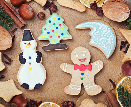 ingredients for cooking and baking Christmas cookies photo