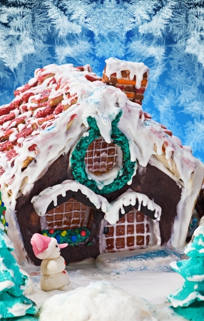 sweet and gingerbread house Christmas decorations for the holiday photo