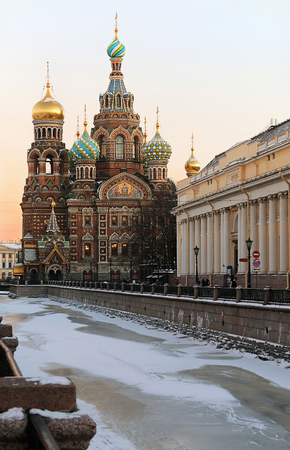 Church of Savior on Spilled Blood (1907) is one of the main sights of St. Petersburg, Russia photo