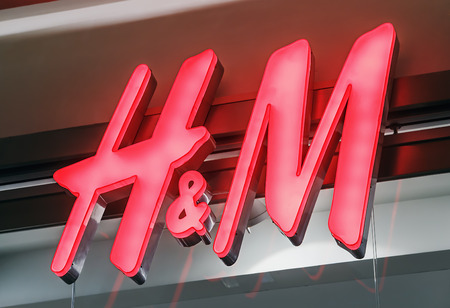hm: RUSSIA, MOSCOW - MARCH 10, 2014: H&M fashion Store. Hennes & Mauritz AB (H&M) is a Swedish multinational retail-clothing company.