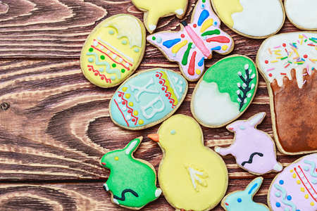 Easter homemade gingerbread cookie photo
