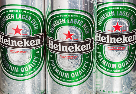 15 18: Moscow, Russia - March 18, 2014:Heineken Dutch brewing company, the largest in the country.The companys history beginning February 15,1864,when its founder Gerard Adrian Heineken bought the Amsterdam Editorial