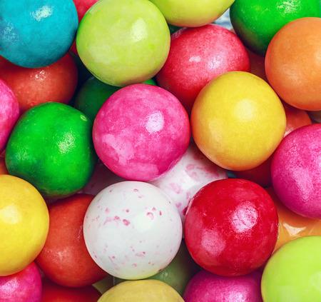 bubblegum: different colors round bubblegum background Stock Photo