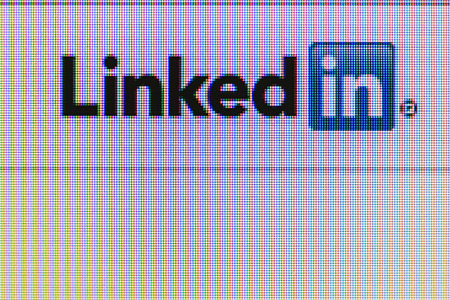 Moscow, Russia - September 24, 2014: social network LinkedIn icon on the computer screen. LinkedIn social network to find and establish business contacts.