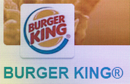 Moscow, Russia - September 24, 2014: Close-up open company logo Burger King on a home computer screen. Burger King Korporation American company, owner of a chain of fast food restaurants