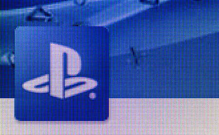 Moscow, Russia - September 24, 2014: PlayStation icon on computer screen. PlayStation game console of the fifth generation, developed by Sony Computer Entertainment Ken Kutaragi-led Editorial