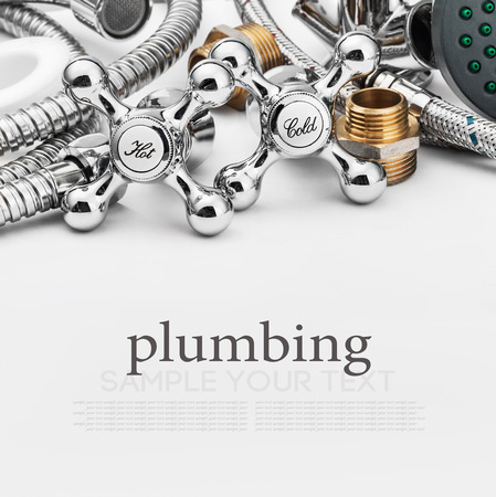 bathroom fixtures and fittings are of different construction. Focus on plumbing taps