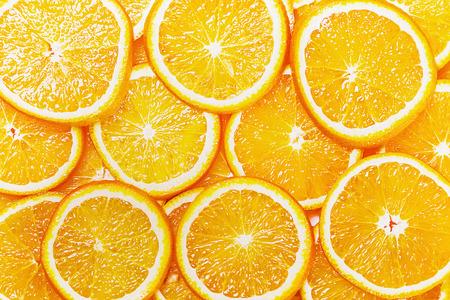 alimentos saludables: Fondo natural fresco con Orange Slice