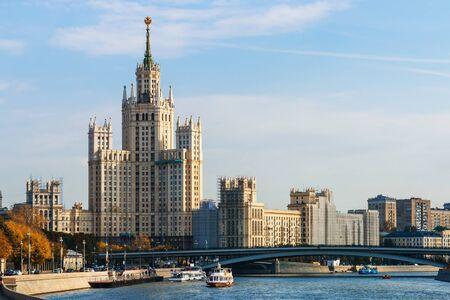 kotelnicheskaya embankment: High-rise building on Kotelnicheskaya embankment in Moscow, Russia.