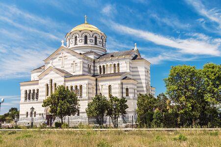 vladimir: Vladimir Cathedral in Tauric Chersonesos, Sevastopol city, Crimea Stock Photo