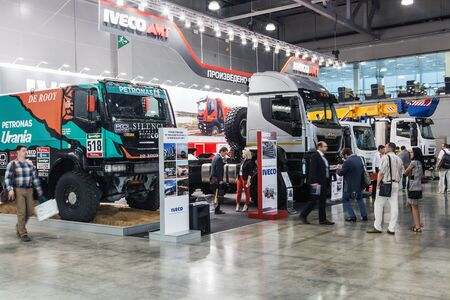 RUSSIA, MOSCOW - May 31, 2016: exhibits, cars and construction equipment International Specialized Exhibition of Construction Equipment and Technologies at Crocus Expo