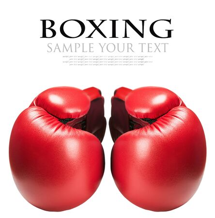 deleted: leather boxing gloves red isolated on white background. text deleted