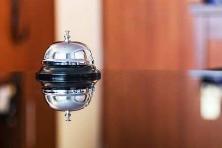 Hotel Concierge. service bell in a hotel or other premises Stock Photo