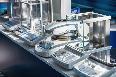 health care analytics: Moscow, Russia - April 11, 2017: 15th International Exhibition of Laboratory Equipment and Chemical Reagents Analytics Expo. Modern technologies in medical equipment Editorial