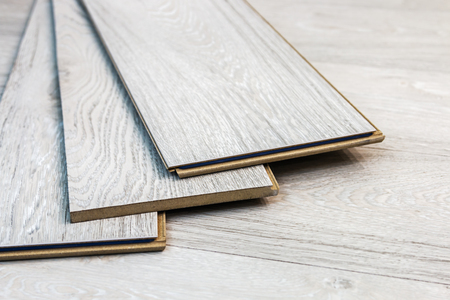 laminate planks can be laid on the floor in the room Фото со стока