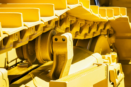 track equipment installed on a tractor, excavator or bulldozer 版權商用圖片