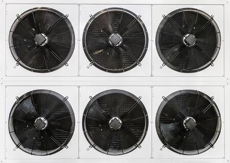 lot of fans in industrial cooling ventilation and air conditioning systems. lot of fans in industrial cooling ventilation and air conditioning systems 版權商用圖片