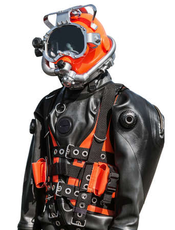 Navy combat divers diving suit isolated on white background