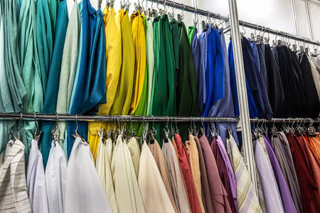 fabrics made of different materials, shades and colors Foto de archivo
