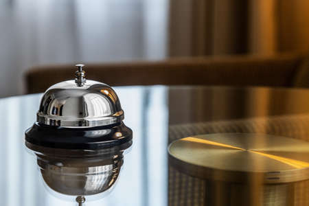 service bell in a hotel, restaurant or other promises. Foto de archivo