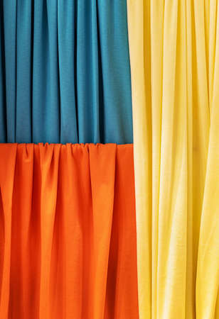 fabrics of different colors for decoration and interior design