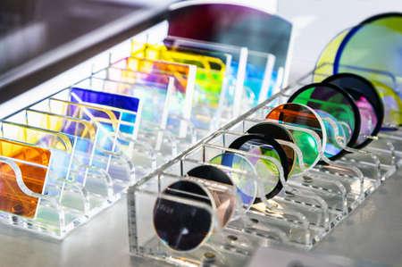 various lenses and glasses made of quartz glass for instrument optics