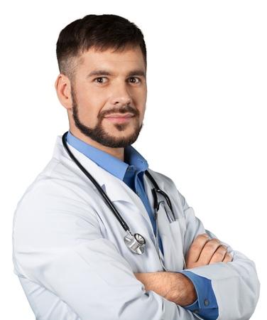 charisma: Handsome doctor portrait Stock Photo